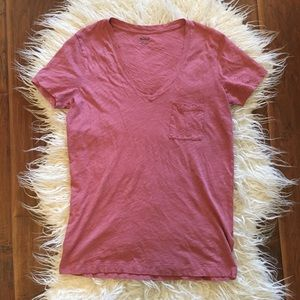 Madewell Cotton V Neck Tee